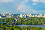Beautiful Kiev cityscape. Ukraine