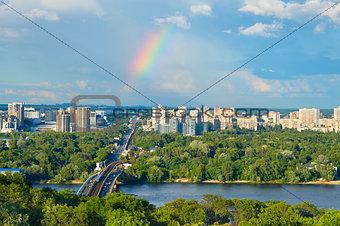 Beautiful Kiev cityscape. Ukraine