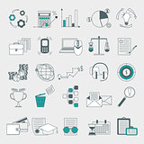Web, finance, human resource, management icons set