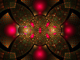 Abstract fractal fantasy pattern.