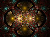 Abstract fractal fantasy  pattern