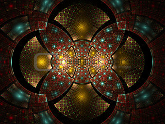 Abstract fractal fantasy  pattern