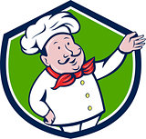 French Chef Welcome Greeting Crest Cartoon