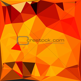 Cadmium Yellow Abstract Low Polygon Background