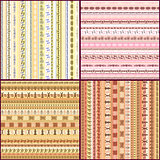 Set of colorful ethnic seamless pattern design