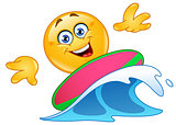 Surfing emoticon
