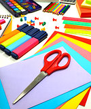 School supplies background
