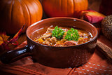 Gourmet hearty goulash soup