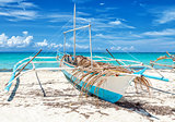 Philippines fishing boat on a beautiful beach