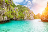 Amazing Turquoise waters in El Nido, Philippines