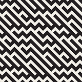 Vector Seamless Black And White Irregular Diagonal Lines Pattern