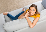 Young woman talking at phone