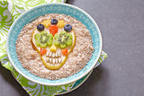 Sugar scull pear with oatmeal