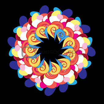 abstract circular pattern