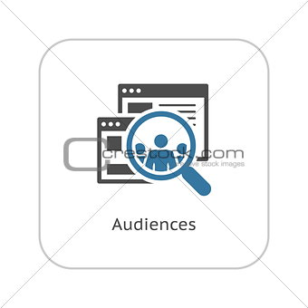 Audiences Icon. Flat Design.