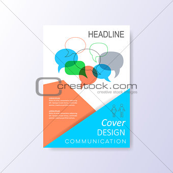 Abstract vector cover design