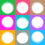 Colorful brush strokes circle buttons