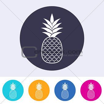Single vector pineapple icon