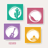 Vector creative mexico greeting card