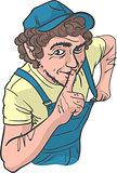 Sly Repairman Silence Gesture