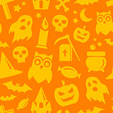 Halloween seamless pattern. Vector background