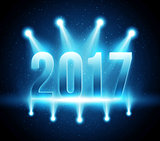 New Year 2017 festive party vector background