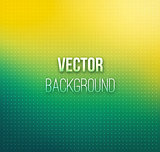 Emerald-yellow color blurred vector background