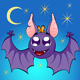 nice bat on night background