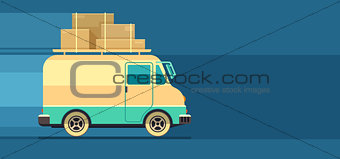 Freight cargo delivery transport minibus