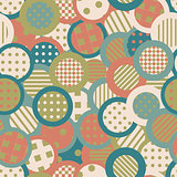 Vintage background with circles and round shapes