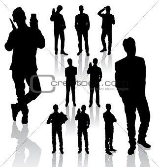 Business Man Silhouettes new 05