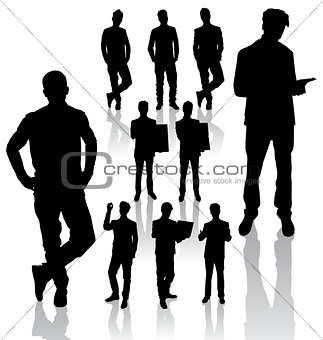 Business Man Silhouettes new 06