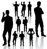 Business Man Silhouettes new 09
