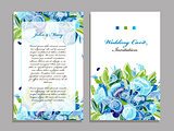 Wedding card template, floral design