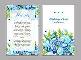 Wedding card template, floral design