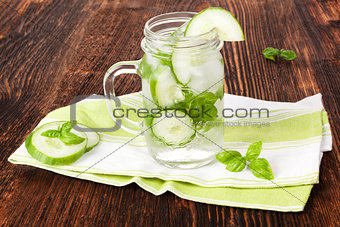 Cucumber and basil lemonade.