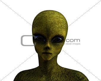 3D green alien