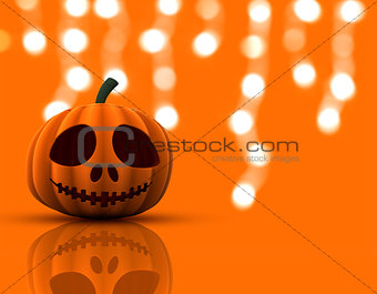 3D Halloween pumpkin background