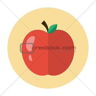 Apple icon flat