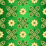 Seamless dark green gradient pattern
