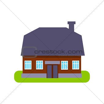 One Floor Large Suburban House Exterior Design