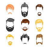 Male Hairstyle Constructor For Face Hipster Collection
