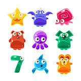 Cute Jelly Creatures Set