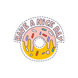 Have A Nice Day Doughnut Bright Hipster Sticker