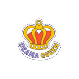 Drama Queen Crown Bright Hipster Sticker