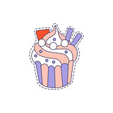 Cupcake Bright Hipster Sticker