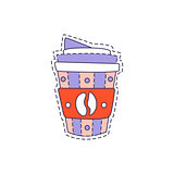 Coffee In Plastic Cup Bright Hipster Sticker
