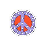 Peace Symbol Bright Hipster Sticker