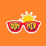 Pair Of Shades Bright Color Summer Inspired Sticker With Text