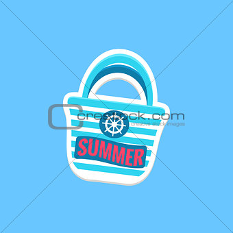 Beach Bag Bright Color Summer Inspired Sticker With Text
